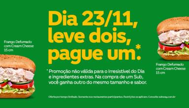 Foto: Divulgação/Facebook Subway Brasil