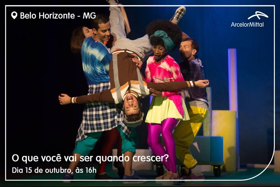 O que você vai ser quando crescer foi um dos espetáculos apresentados no mês de outubro em BH - Foto: Divulgação/Internet